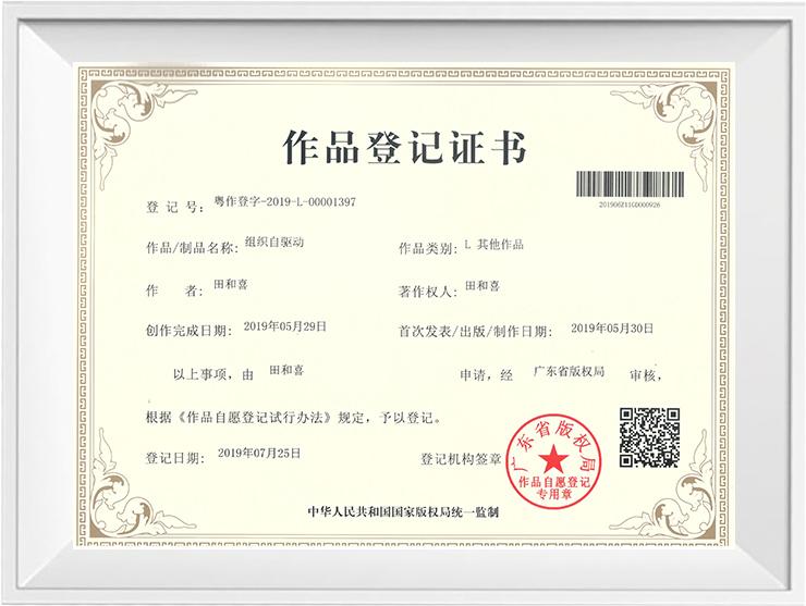 广州道成阿米巴-阿米巴经营版权证书-阿米巴作品登记证书-版权证书:组织自驱动